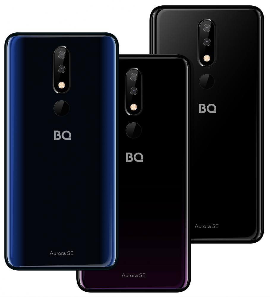 Смартфон BQ 5732L Aurora SE (Black, Black+Dark blue, Black+Purple)