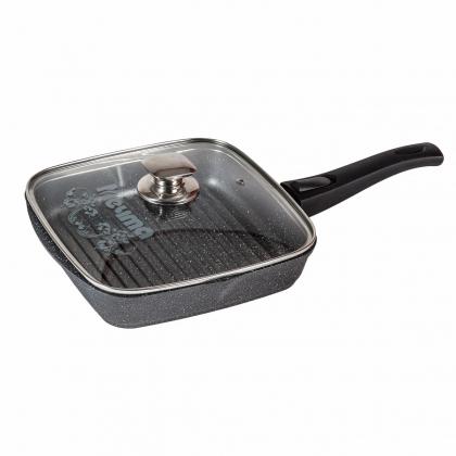 Сковорода-гриль квадрат 26Х26 cм с несъёмной ручкой