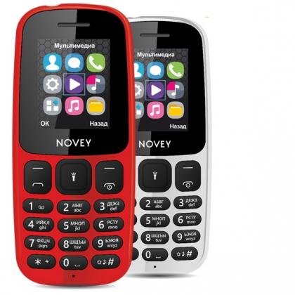 Телефон Novey 107 Black, Gray, White, Red