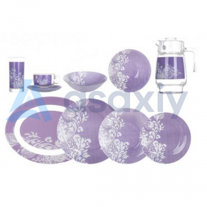 Столовый сервиз Piume Violet 46 предметов, 6 персон Luminarc