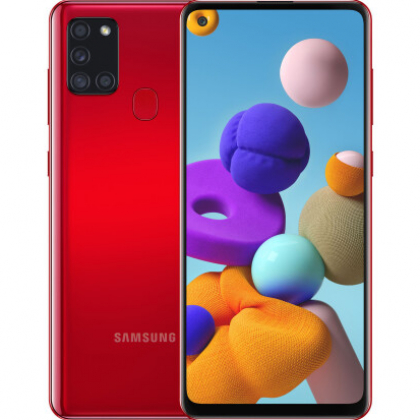 Смартфон Samsung Galaxy A21s 3/32GB Red, Black