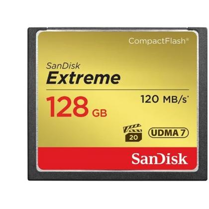 Карта памяти SanDisk Extreme CompactFlash 120MB/s 128GB