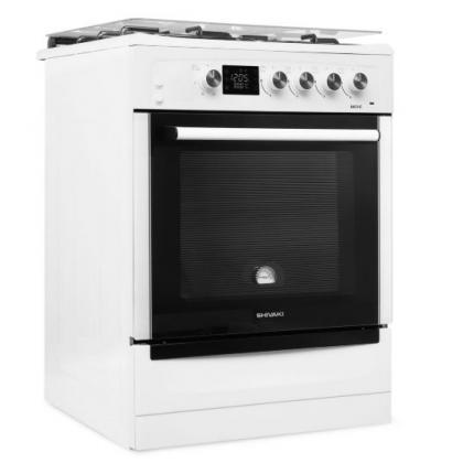Комбинированная плита Shivaki 6403-E (Белая)