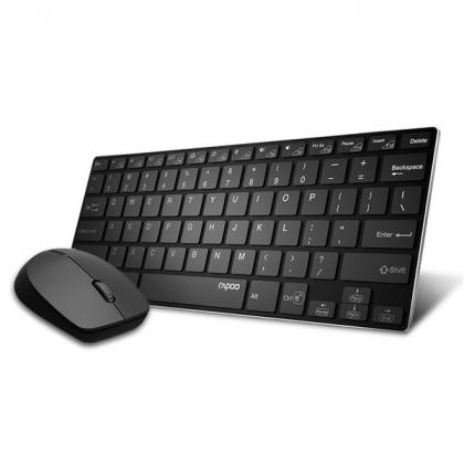 Клавиатура и мышь Rapoo 9000M Black Bluetooth
